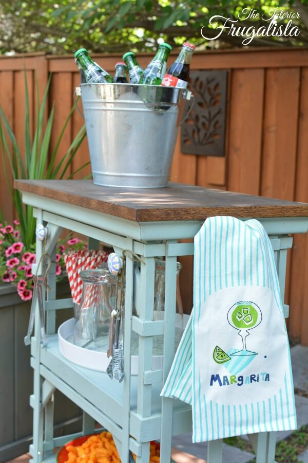 Portable Patio Beverage Cart