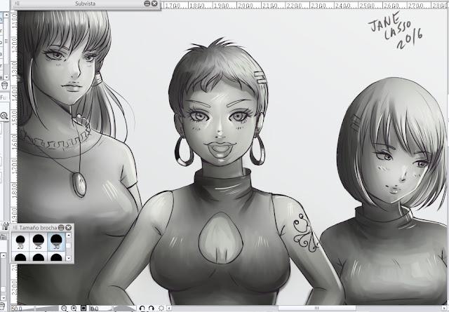 dibujo en escala de grises