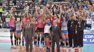 VOLEIBOL - El Figaro Peluqueros Haris se coronan reinas en Leganés