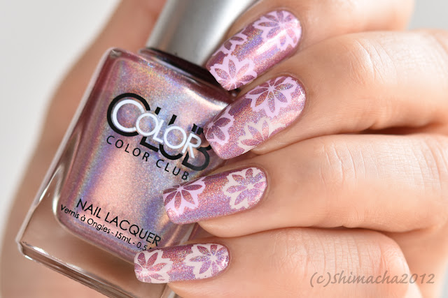 Sakura Nails / Color Club Miss Bliss, 桜ネイル