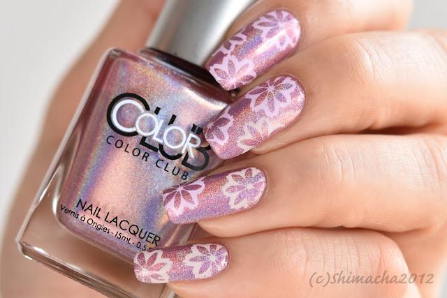 Sakura Nails / Color Club Miss Bliss, 桜ネイル