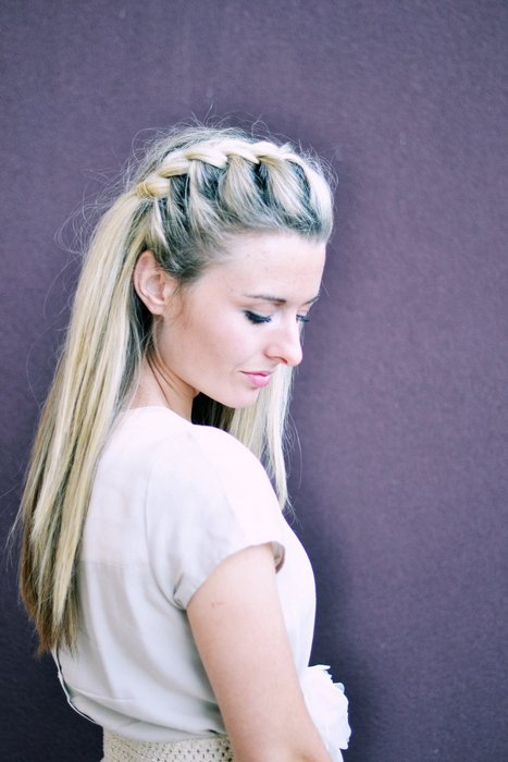 Hair DIY: Half-Up Side French Braid - The Shine Project