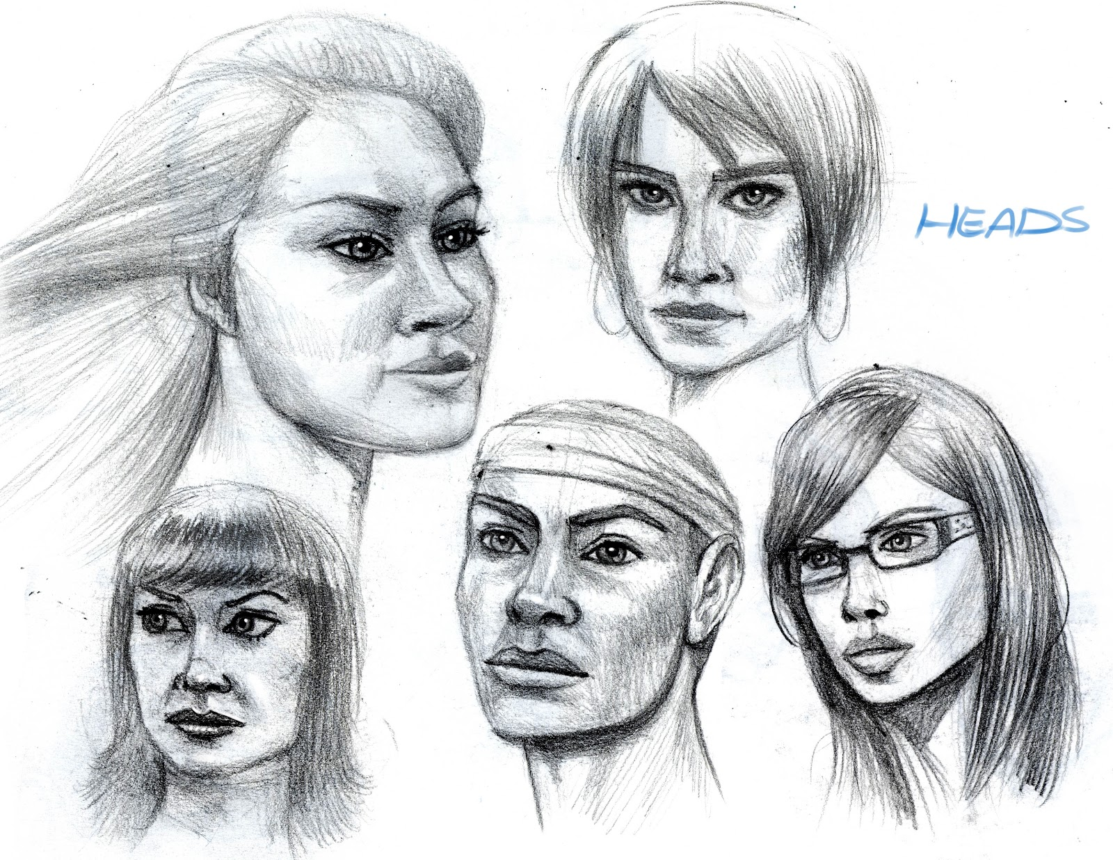 Arash Rod's Art: Heads Drawings