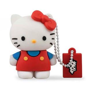 Gambar Flashdisk Hello Kitty Merah Biru Yang Lucu