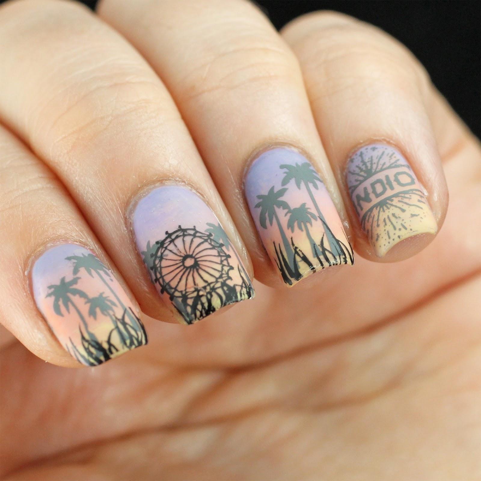 Coachella Nail Art: Copycat Claws: The Digit-al Dozen Does Gradient+: Fan