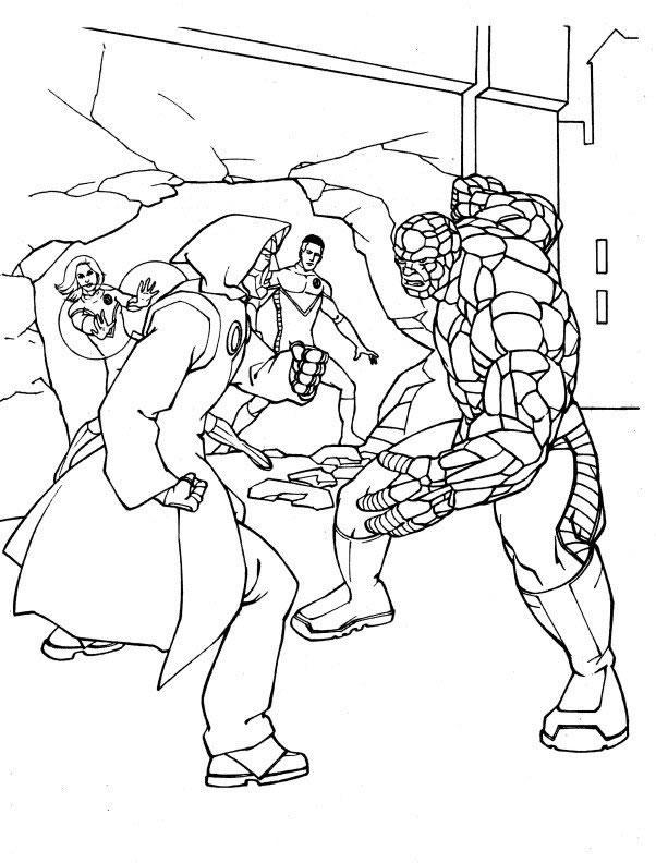 Ausmalbilder Zum Ausdrucken Ausmalbilder Fantastic Four