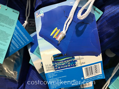 Costco 1900764 - Rio Beach 7ft Sunblocking Umbrella: great for hot summer days