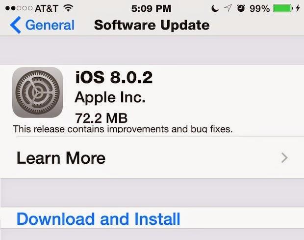 iOS 8 0 2 Direct Download Links - Apple Tricks