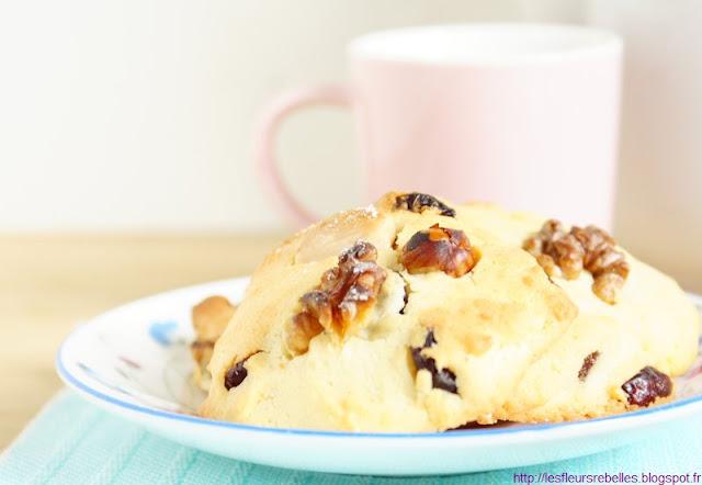 Cookies aux fruits rouges confits, amandes, noisettes et noix