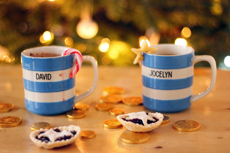 Cornishware personalised mugs