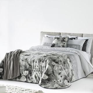 Colcha Bouti modelo Malei color Gris de Antilo Textil