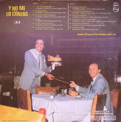 Cuarteto de Oro - Y no me lo contás / Discos Terribles