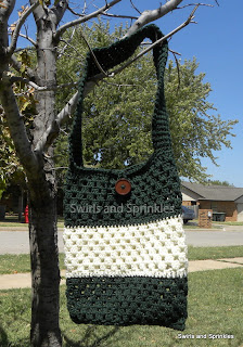 Swirls and Sprinkles easy free crochet bag pattern