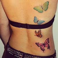 tatuajes de mariposas a color