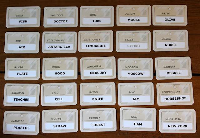 Codenames word grid