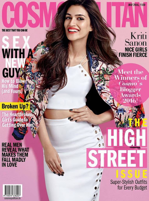 Cute Kriti Sanon Cosmopolitan Magazine July 2016 Pictures