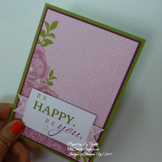 Petal Garden Memories and More no stamp card