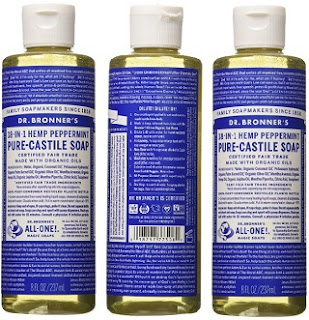 Image: Dr. Bronner's Fair Trade + Organic Castile Liquid Soap (Peppermint)
