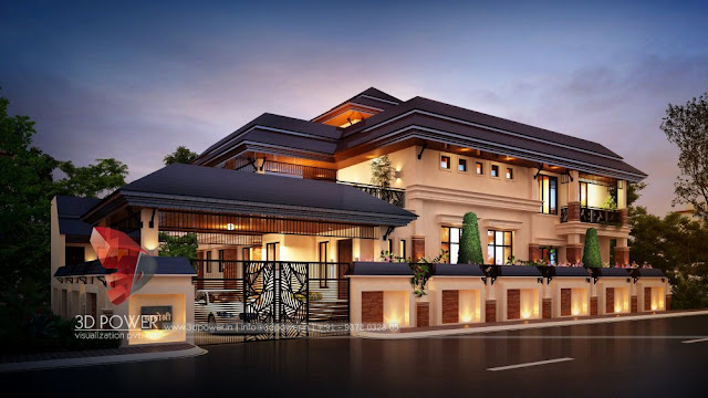 Latest Bungalow Design Night View