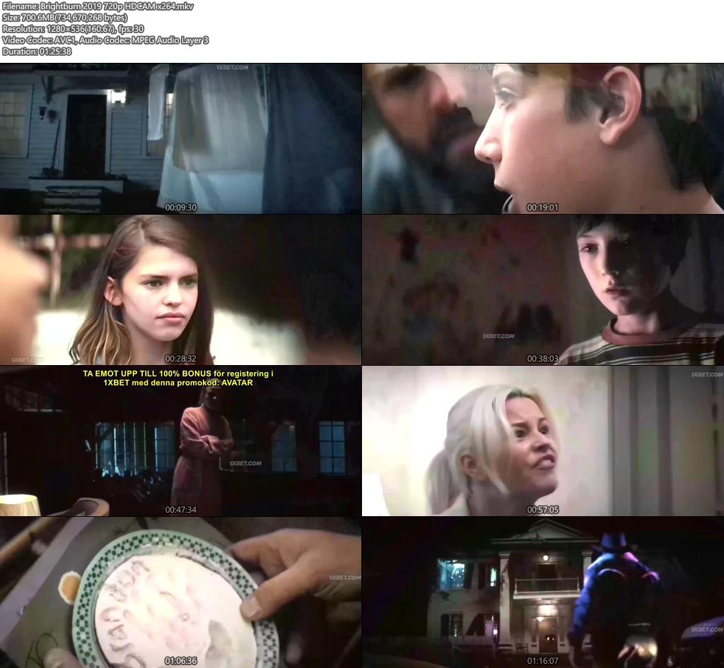Brightburn 2019 720p HDCAM x264   480p 300MB   100MB HEVC Screenshot