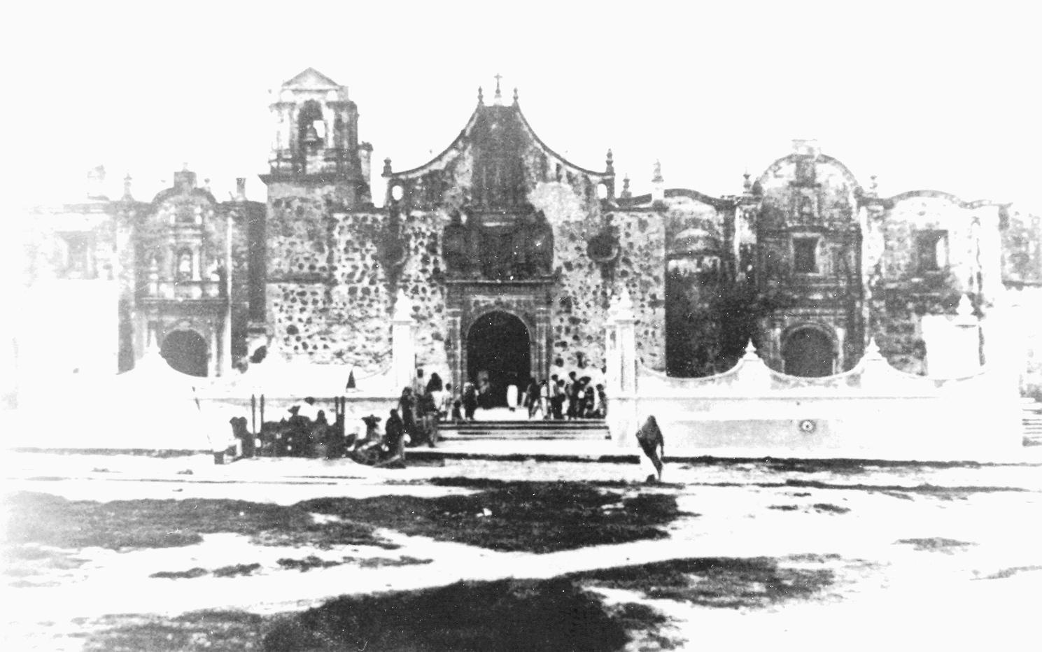 Foto antigua del barrio de Analco.