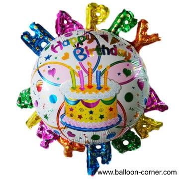 Balon Foil Bulat Motif HAPPY BIRTHDAY 3D / Balon Foil Bulat HBD 3D