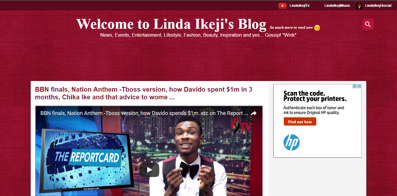 Linda Ikeji's Blog Account Deleted By Instagram