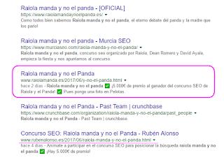 Mi post el 7 de junio buscando raiola manda y no el panda