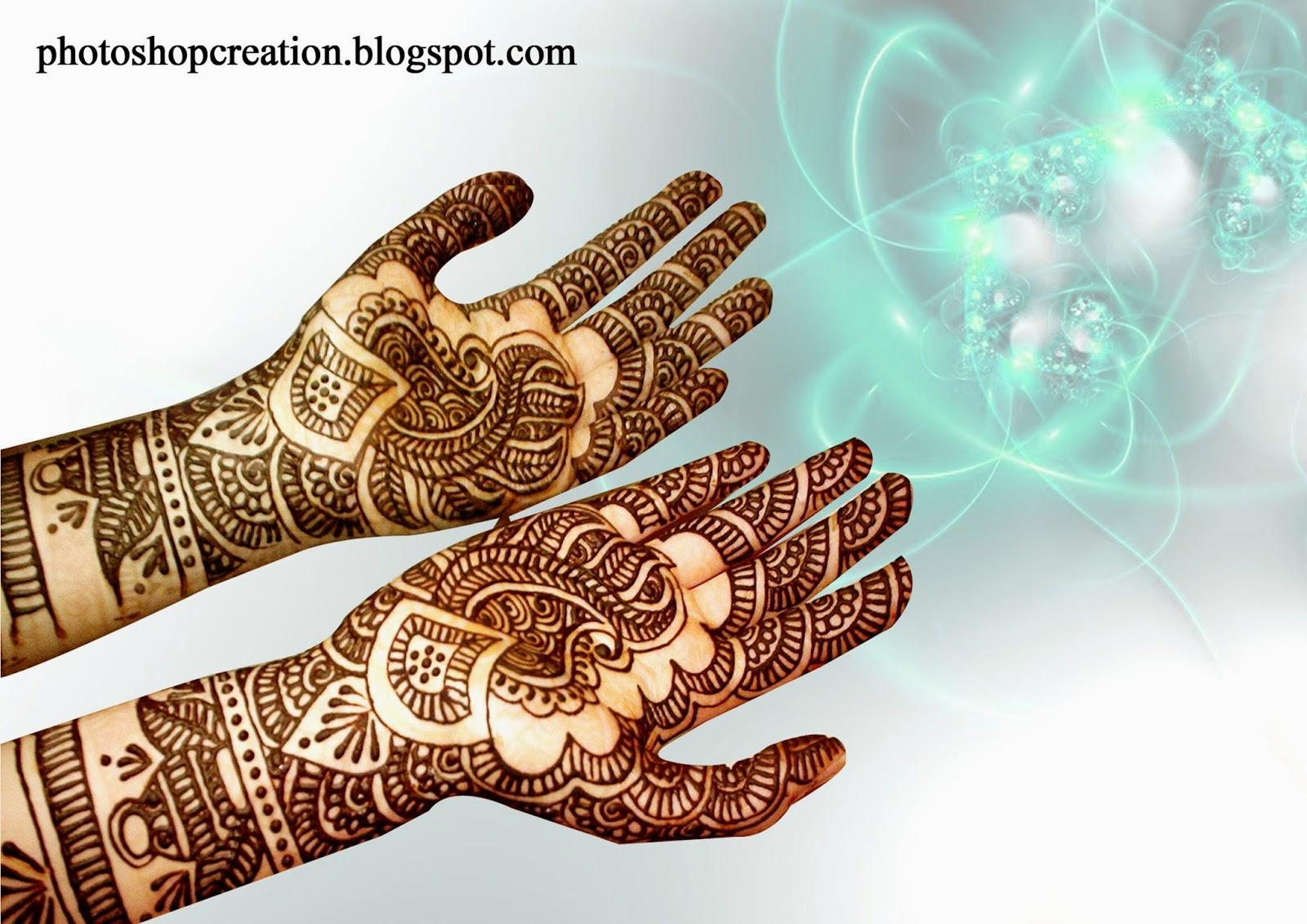 Wonderful Mehandi Designs Photoshop Creation