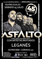 Concierto de Asfalto, No procede y Coronas 100 en Leganés