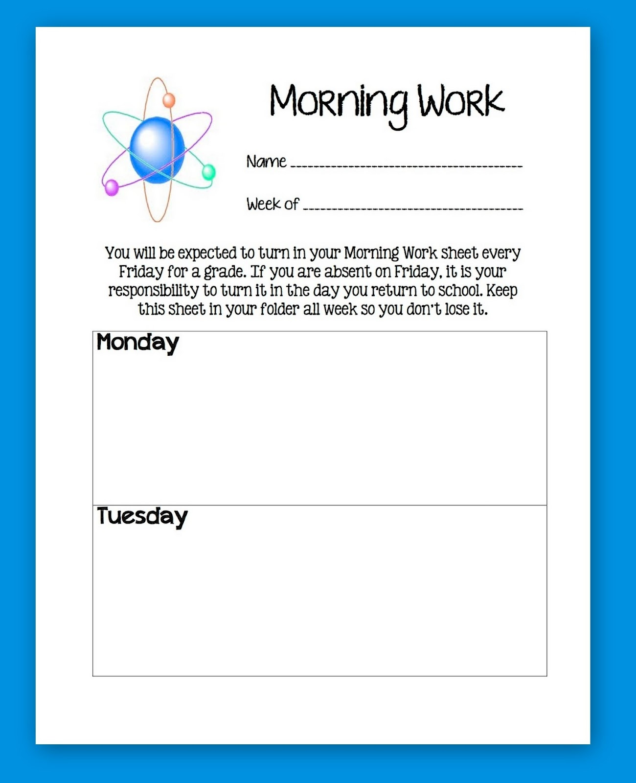 Tween Teaching Printable Worksheets