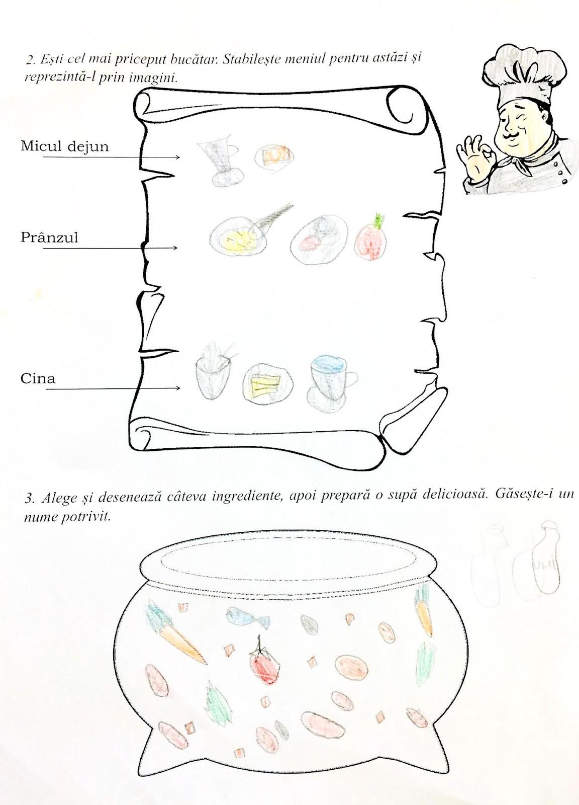 Fișă-Piramida alimentelor