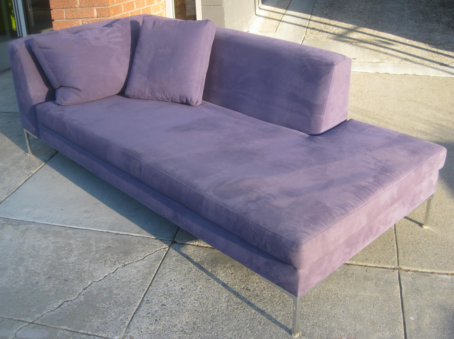 Sold purple chaise lounge ottoman 250