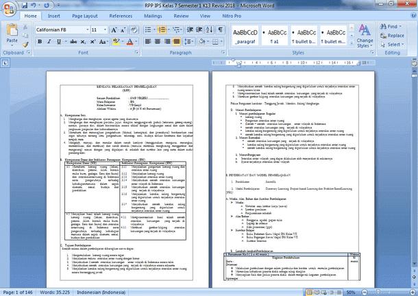 RPP IPS Kelas 7 Semester 1 dan 2 Kurikulum 2013 Revisi 2018