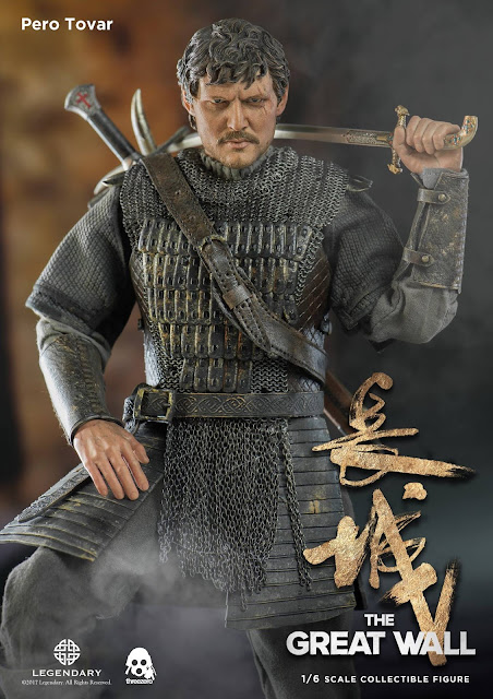 "osw.zone The Great Wall is a 2016 epic historical fiction-action adventure monster film directed and written by Zhang Yimou.  Threezero previews 1 / 6. Scale ""The Great Wall"" Pedro Pascal as Pero Tovar Collector Figure"