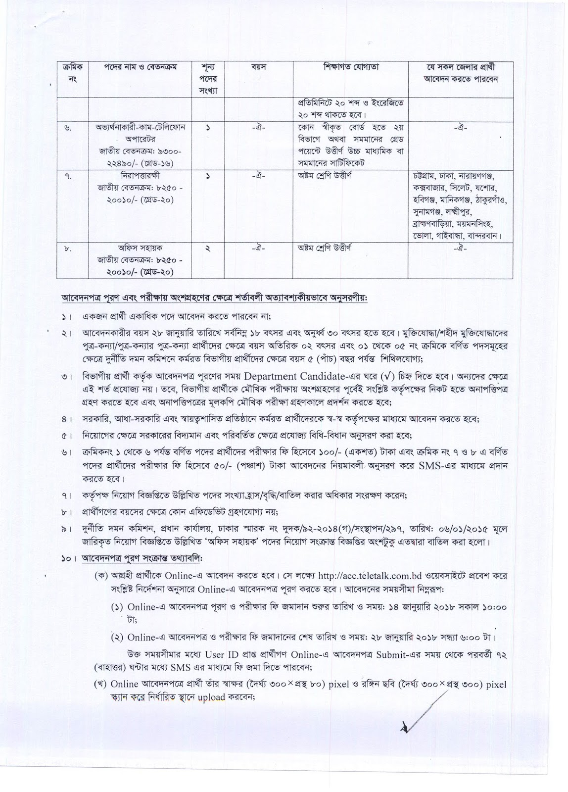 ACC Anti-Corruption Commission Job Circular 2018