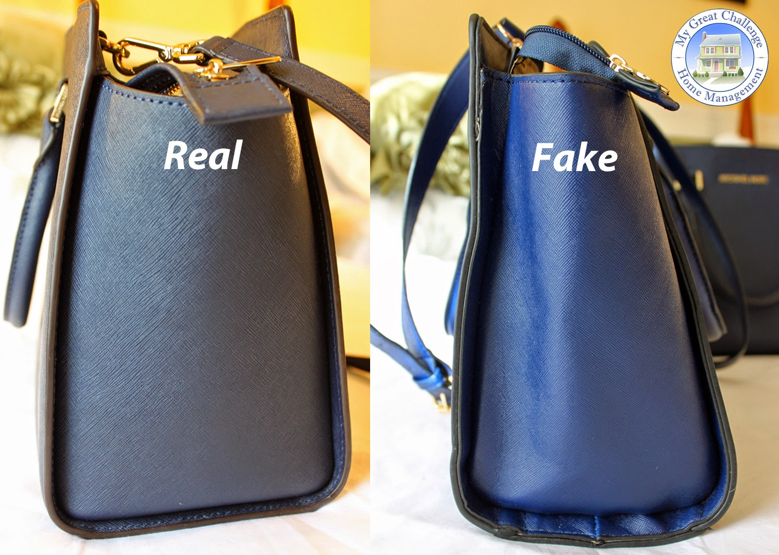 403ef21af8d7 Because Saffiano leather is rigid, it stands stiffer and will hold its  shape. The fake leather cannot hold in place and the sides tend to collapse.