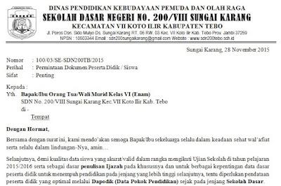 contoh surat edaran ke orang tua wali murid untuk valid