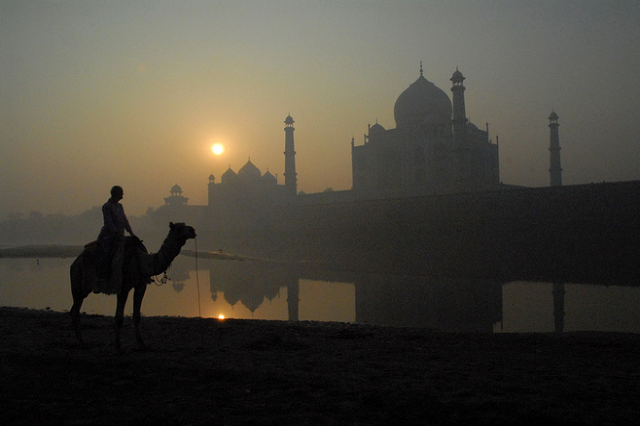 Sunrise view at Taj Mahal