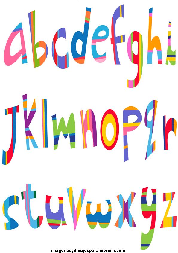Abecedario con letras de colores