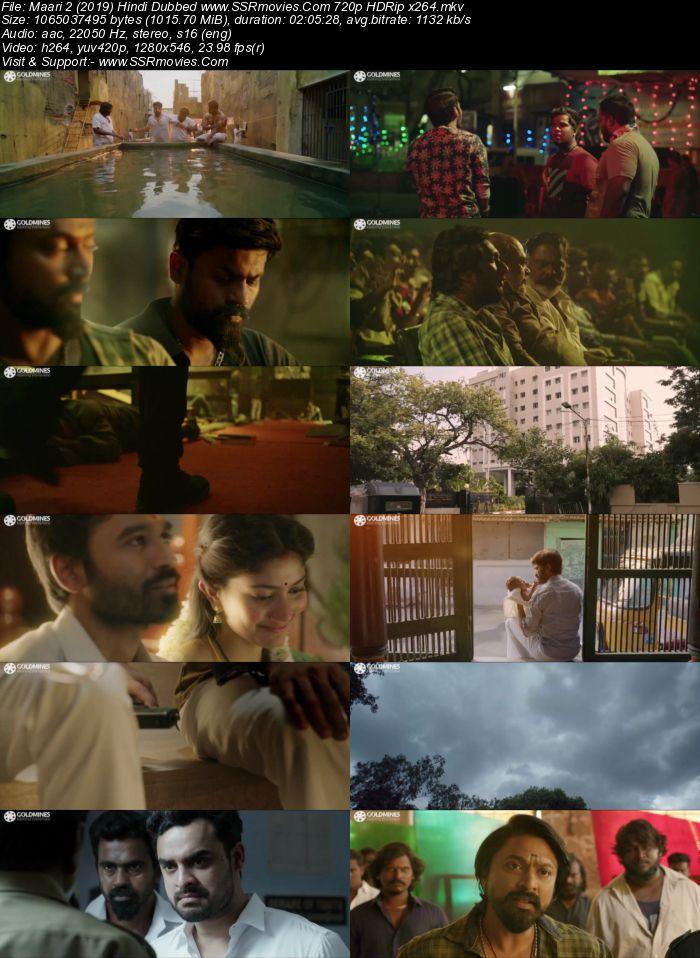 Maari 2 (2019) Hindi Dubbed ORG 480p HDRip x264 350MB Movie Download