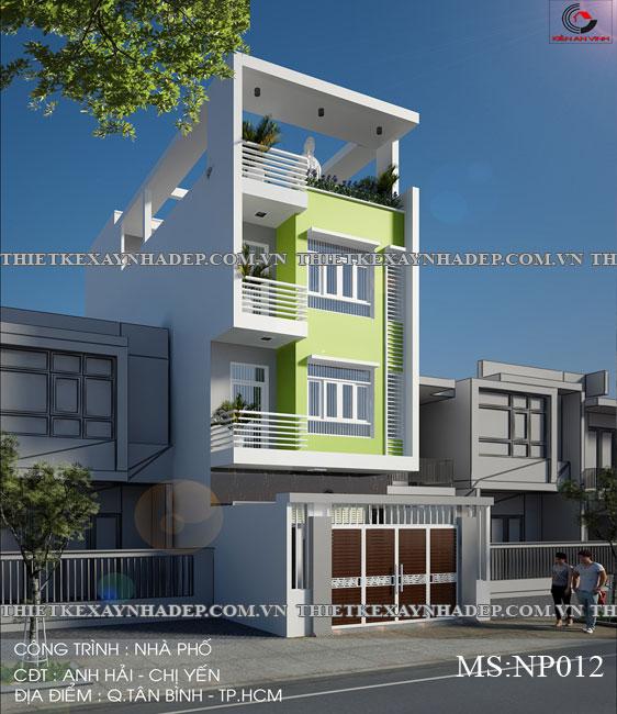 Mẫu thiết kế nhà ống 2 tầng diện tích 4x14 ở quê gia đình chị Lan Thiet-ke-nha-pho-dep-2-tang