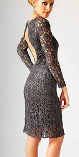 Patrón #1340: Vestido a Crochet