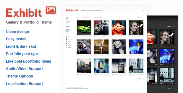 Exhibit Gallery Wordpress Theme Free Download by ThemeForest.