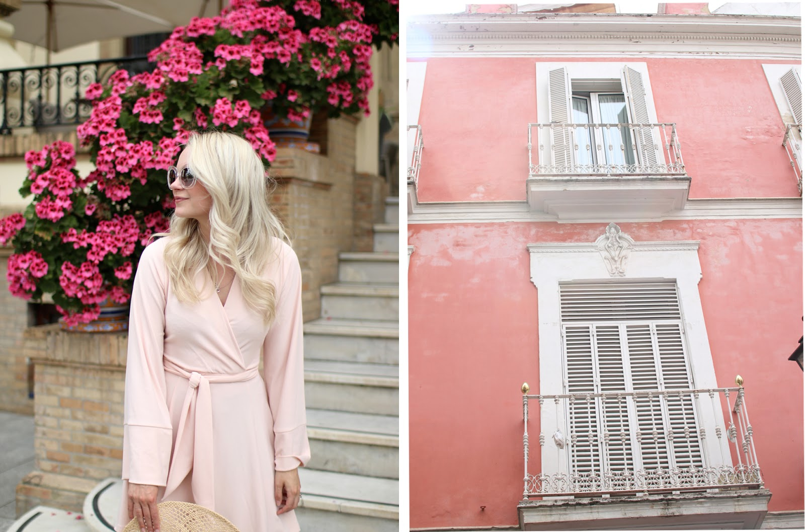 pink buildings and walls