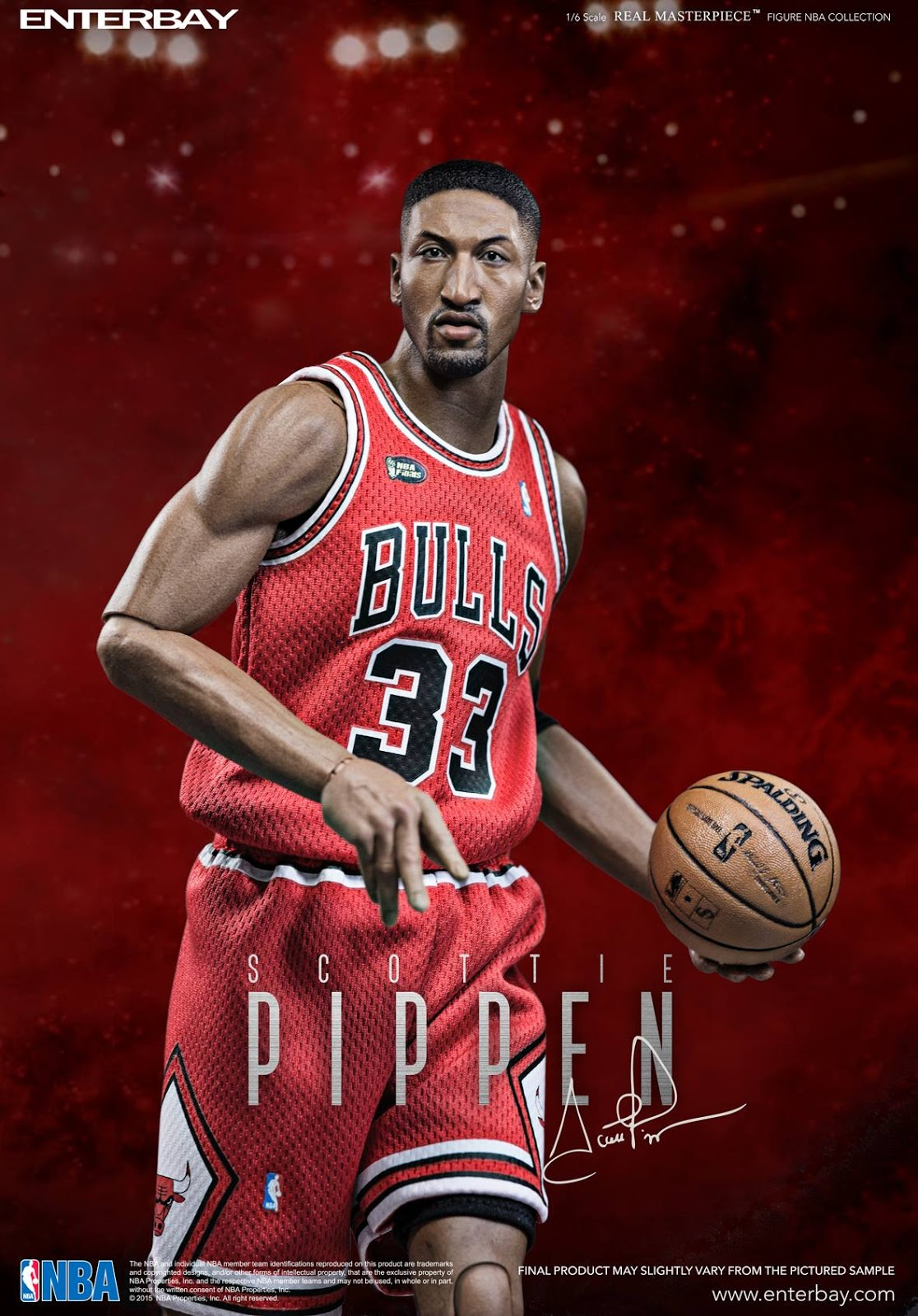 OSR  The 1 6 Real Masterpiece Scottie Pippen figurine by ENTERBAY 7a91a4a37