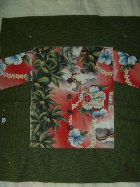 Hawaiian Shirt Quilt Block