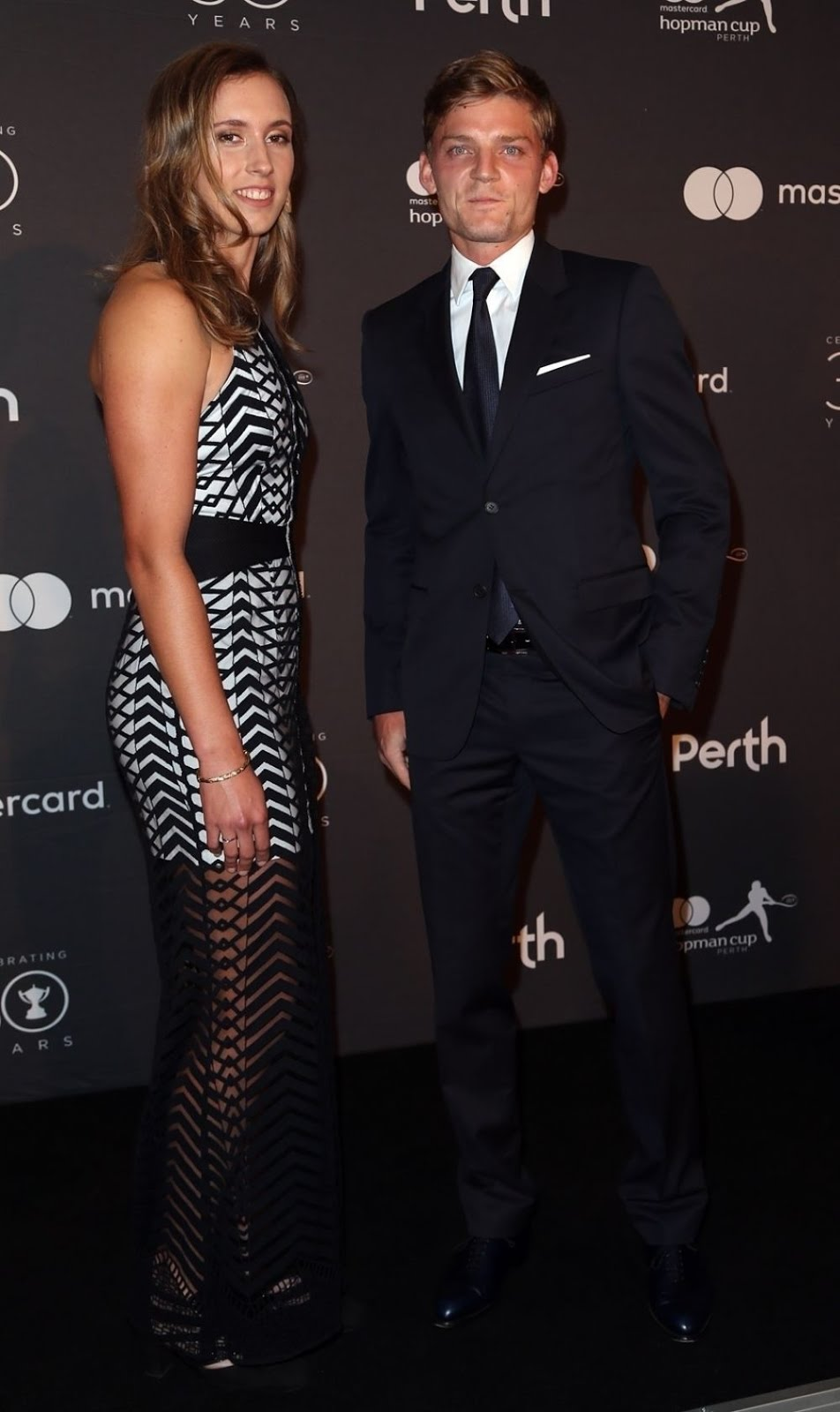 Photos of Elise Mertens And David Goffin At Hopman Cup New Years Eve Players Ball In Perth