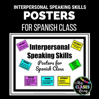 Interpersonal Speaking Skills - Free posters for classroom expectations in a deskless classroom