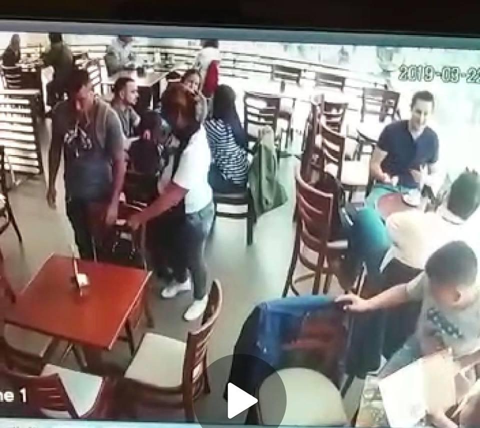 Antisociales captados en el Café Alexander del Multicine en La Paz / FELCC